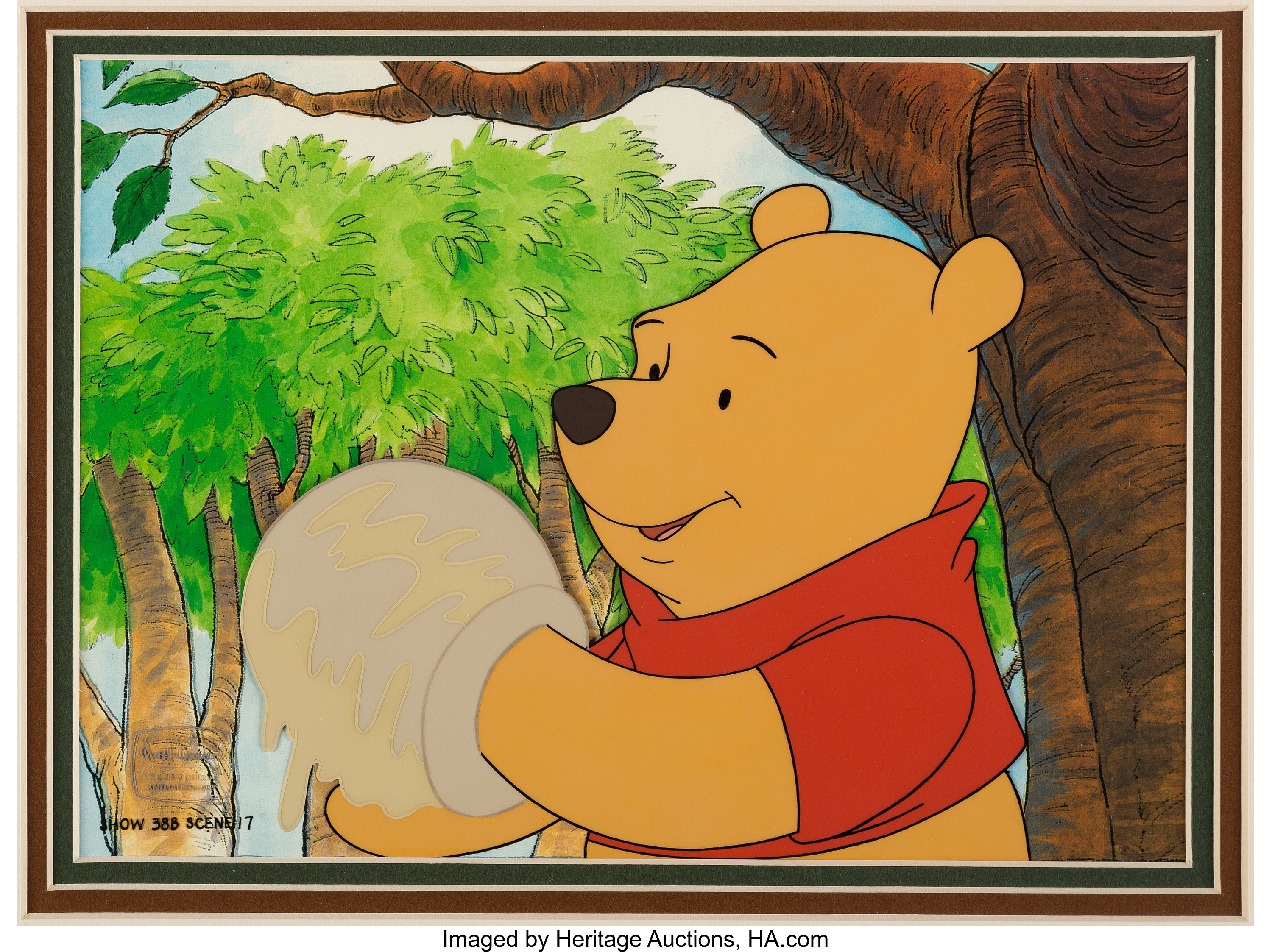 Pooh's Grand Adventure Winnie the Pooh Production Cel (Walt Disney, 1997)