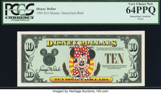 Disney Dollars Disneyland $10 Proof